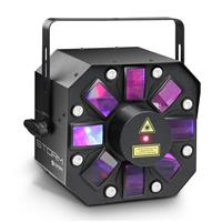 Cameo STORM - 3 in 1 lighting effect, 5 x 3W RGBAW Derby, Strobe and Grating Laser